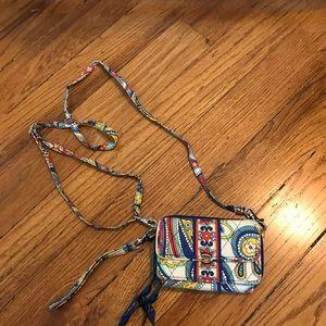 Vera brandy purse/wristlet